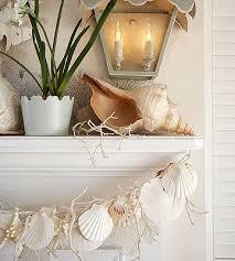 Seashell Christmas Tree Garland by Beach Inspired Christmas Decor Garlands Coastal And Fireplace