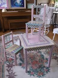 Hand Painted Children's Table And Chairs. Perfect For A Little ...