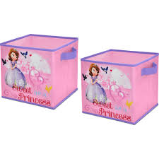 Kids Flip Open Sofa by Disney Sofia The First 2 Pack Storage Cube Walmart Com