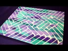 DIY Painters Tape Canvas Art