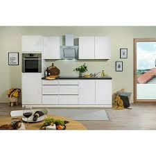 respekta premium küchenzeile glrp270hww breite 270 cm mit