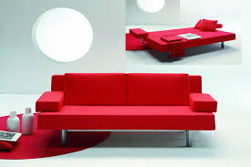 bedroom designs fabulous red modern metal frame sofa beds for