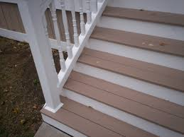 AZEK Front Porch Stairs and Vinyl Railings with Columns in St