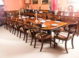 Mahogany Dining Room Regency Bespoke Three Pillar Table And Chairs For Sale