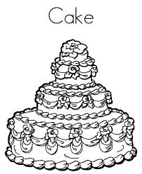 New Birthday Cake Coloring Page Printable Image Colouring Cakes Pages Delicious Free P