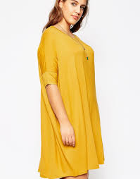 asos the t shirt dress in yellow lyst