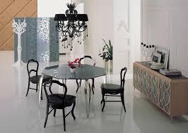 edelstahl esstisch mit esszimmer set mit 4 stühle glasplatte tisch moderns stil holz stühle