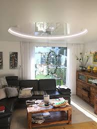 spanndecken im wohnzimmer stil spanndecken