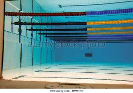 Olympic Swimming Pool Top View Empty Stock Photos