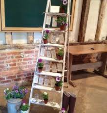 Shabby Chic Wedding Decorations Hire by Vintage Wedding Table Plan Ladder Hire Wiltshire Bristol
