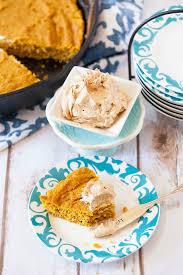 Healthy Light Pumpkin Dessert by Cast Iron Pumpkin Cornbread With Pumpkin Spice Cream Cheese Food
