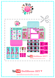Download FREE Printables For Miniatures DIY Miniature LOL Surprise Doll Blind Bags
