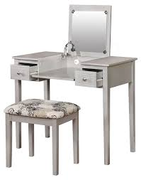 bedroom magnificent makeup desk with lighted mirror wall vanity