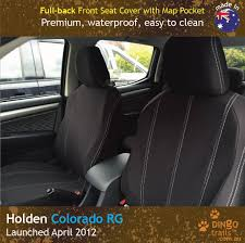 FULL-BACK Front Seat Covers + Map Pockets (HC12FB) - Dingo Trails