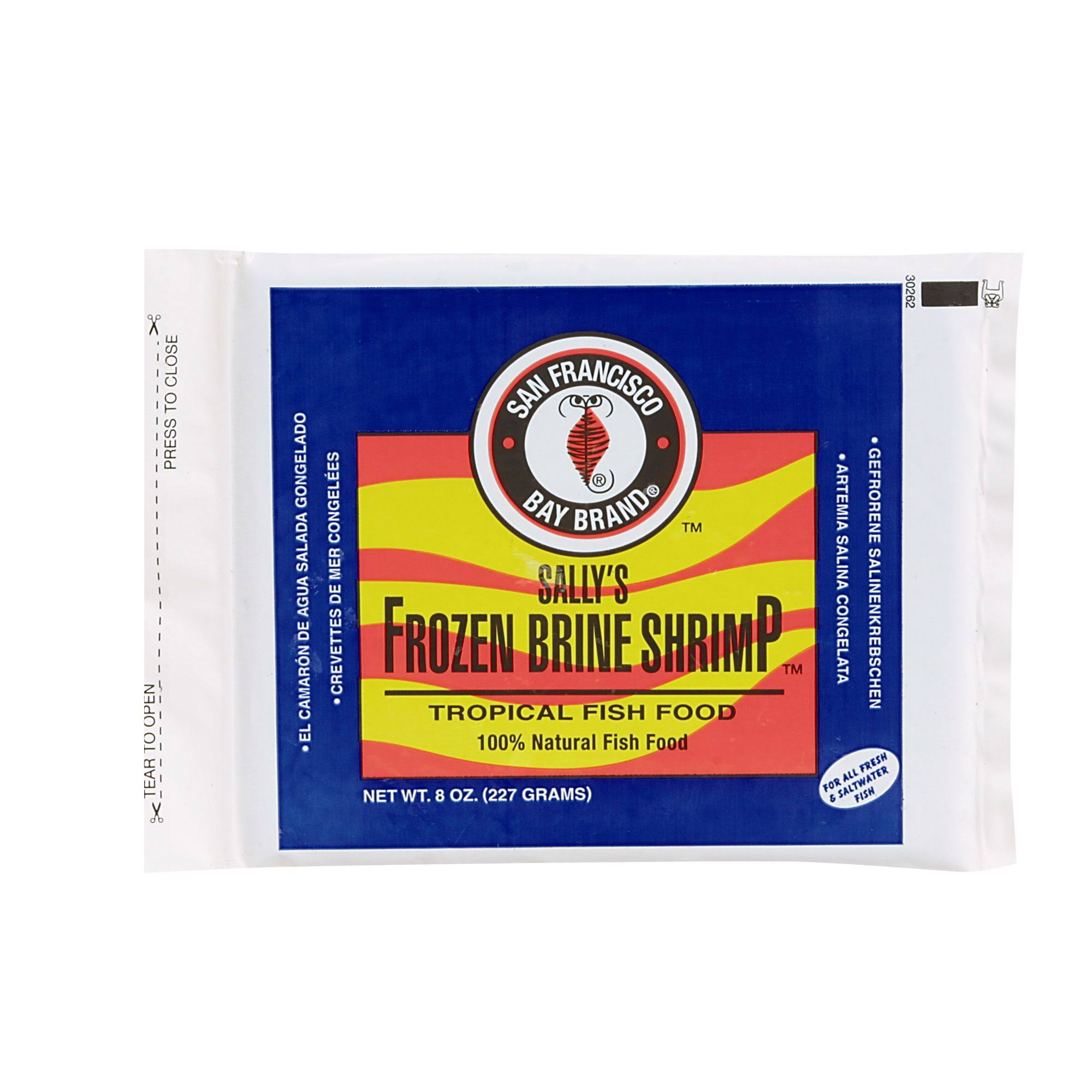 San Francisco Bay Sally's Frozen Brine Shrimp Fish Food