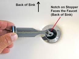 Fix Bathtub Drain Stopper Stuck by Bathroom Sink Drain Stopper Stuck Sinks Ideas