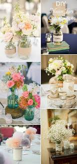 DIY Rustic Inspired Mason Jars Wedding Table Setting And Centerpieces