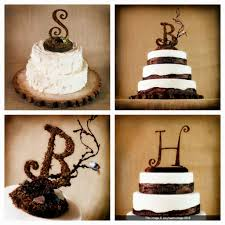 Rustic Wedding Cake Toppers Letters Ideas Party Decoration