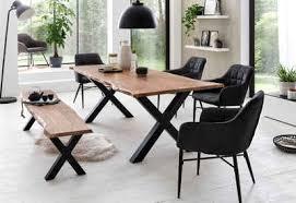 premium collection by home affaire esstisch manhattan mit baumkante
