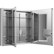 Framed Oval Recessed Medicine Cabinet by Kohler Verdera 40 In W X 30 In H Recessed Medicine Cabinet In