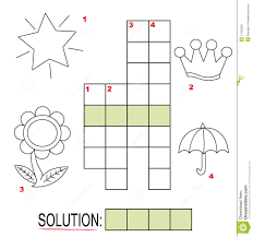 Christmas Tree Type Crossword by Crossword Puzzle For Kids Part 3 Royalty Free Stock Images