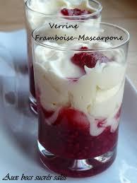verrine framboise mascarpone ou comment réaliser un dessert