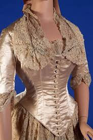 Fripperiesandfobs Wedding Dress Detail Ca 1885 From The Kent State University