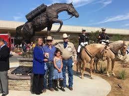 Denver International Airport Murals Horse by Menifee Student Supports Visits War Horse Monument Menifee 24 7