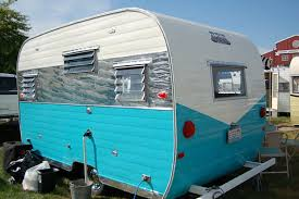 Photo Of Aloha Trailer With Blue And White Paint Polished Quilted Aluminum Skin Panel Travel