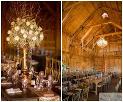 Rustic Glam Barn Fall Wedding Gorgeous Table Settings And Floral Centerpieces