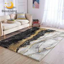 blessliving luxus bereich teppich für wohnzimmer gold