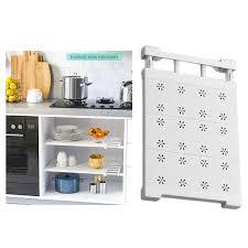 einstellbare regal schrank lagerung rack organizer erweiterbar schrank regal raum saver racks für küche schrank schrank bücherregal etc weiß modern