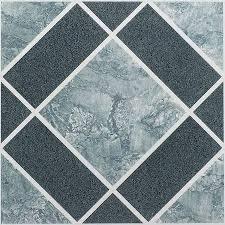 Nexus Light Dark Blue Diamond Pattern 12x12 Self Adhesive Vinyl Floor Tile