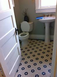 awesome hexagon tile bathroom floor zyouhoukan with regard to