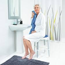 bad hocker ole höhenverstellbar mit drehbarer sitzfläche weiß
