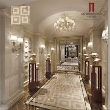 Italian Waterjet Hotel Lobby Flooring Design