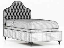 Camelback Slipcovered Sofa Restoration Hardware by Restoration Hardware Reese Velvet Tufted Camelback Bed 3d Model