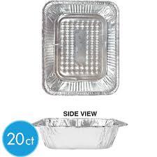 Aluminum Half Chafing Dish Steam Pans 20ct Image 1