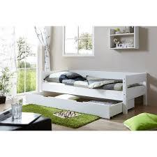 ticaa robby einzelbett buche weiß mit schubkiste