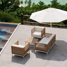 canapé teck jardin salon jardin en teck mobilier de jardin metal maison boncolac