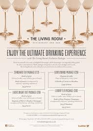 Living Room Manchester Drinks Menu