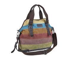 amazon com unives retro canvas handbag carry on purse oversized