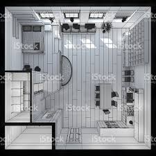 100 Tiny Loft 3d Interior Rendering Of A Stock Photo Download