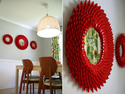 Gorgeous Red Plastic Spoon Mirror By Littlethingsbringsmiles Diy Crafts Projects