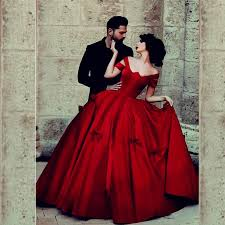 Chic Dark Red Ball Gowns Long Saudi Arabia Prom Dresses With Bows Vintage Pleat Square Collar Formal Party Dress In From Weddings