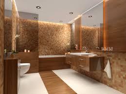helles badezimmer mit warmen farben und materialien genial