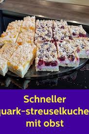 schneller quark streuselkuchen mit früchten lc kuchen