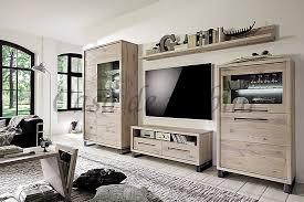 massivholz wohnwand b310xh165xt42 cm 4teilig casade mobila