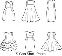 Dress Clip Art And Stock Illustrations 148936 EPS