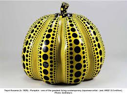 Yayoi Kusama Pumpkin Sculpture by Art World Halloween Costumes